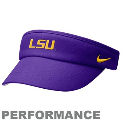 LSU Nike Dri-FIT Purple Sideline Visor at End Zone Apparel  ef024ea360f