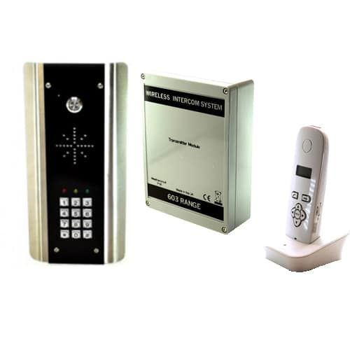 Aes Entree Phone 603 Abk Keypad Wireless Intercom Entree Phone 603 Stylish Stainless Steel Speech Panel With Keypad Built In Voicemail E Entry Doors