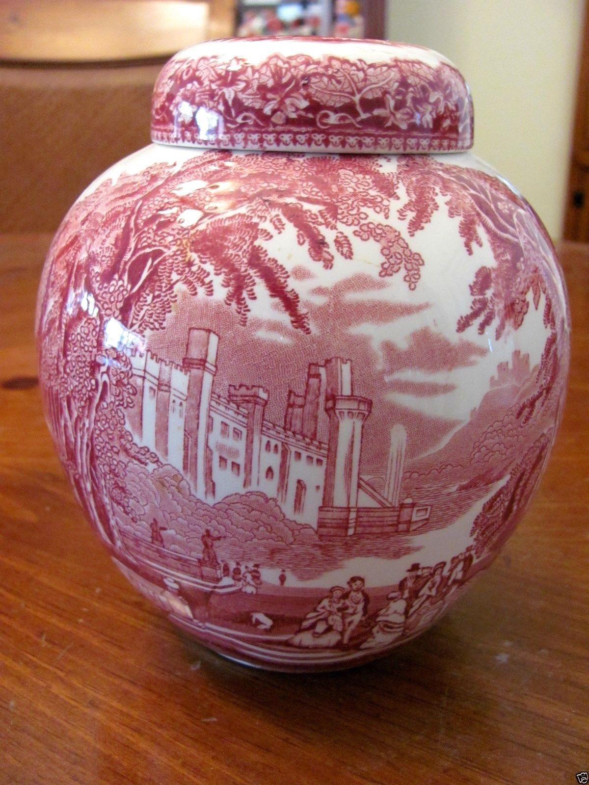 Vintage 'mason'' Vista Ironstone England Pink