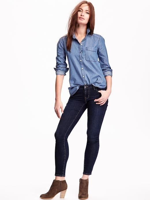 add431c5 Old Navy Chambray Button-Down Shirt | What to Wear