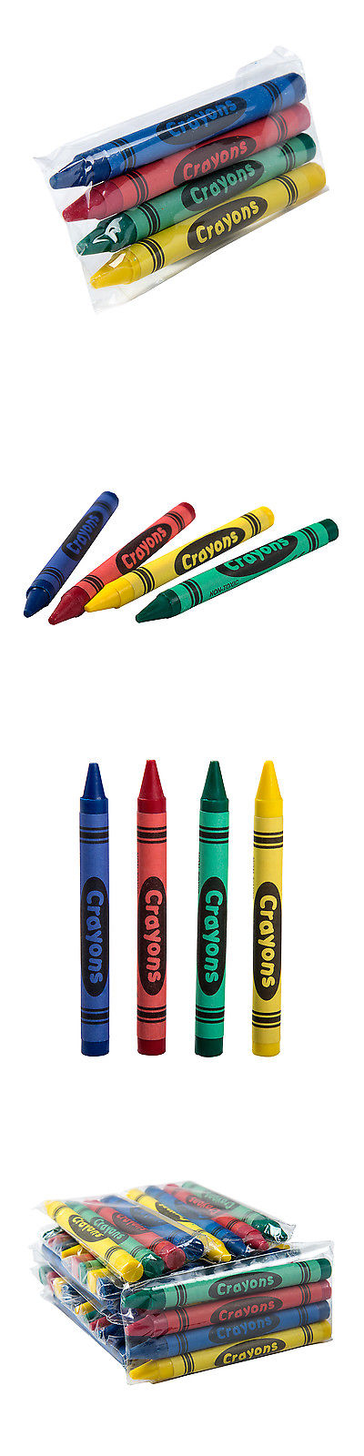 crayons 116653 4 color pack kids fun restaurant cello wrapped