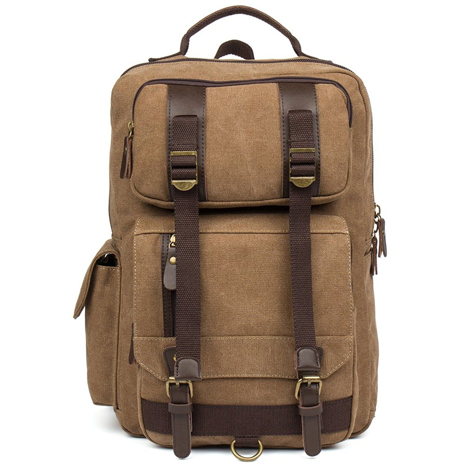 1280a6e2ad BOSTANTEN Laptop Canvas Backpack School Travel Camping Bag Gym Sports  Backpacks For Men    Want to know more