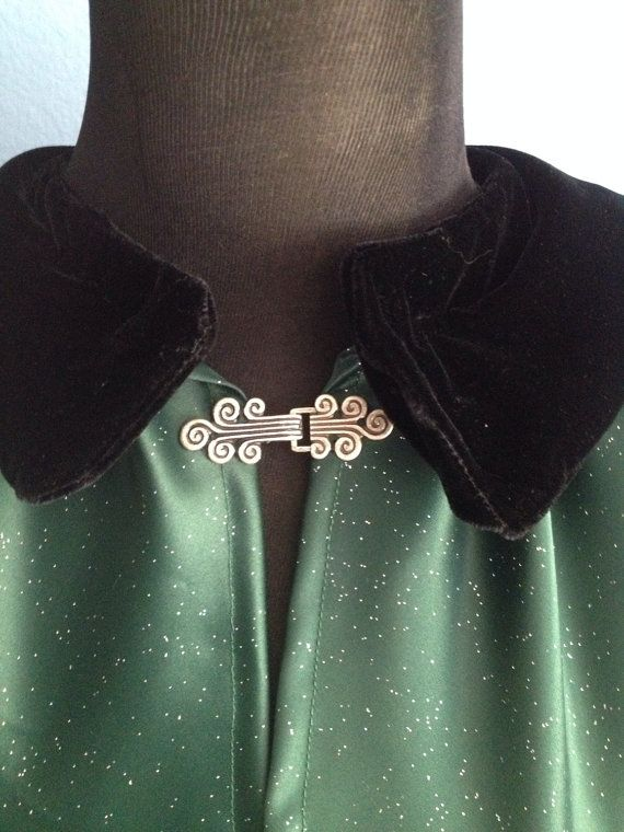 Unlined Satin Cape with Peter Pan Collar by SpookyFinds on Etsy, $50.00