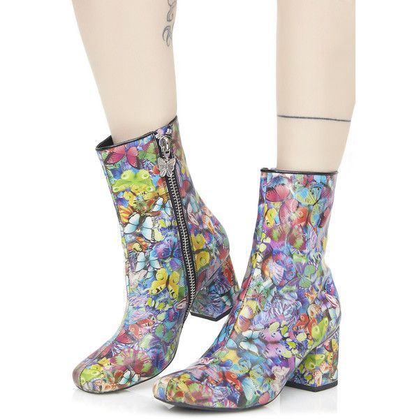 8f8ce1caafa Current Mood Holographic Butterfly Boots ( 88) ❤ liked on Polyvore  featuring shoes