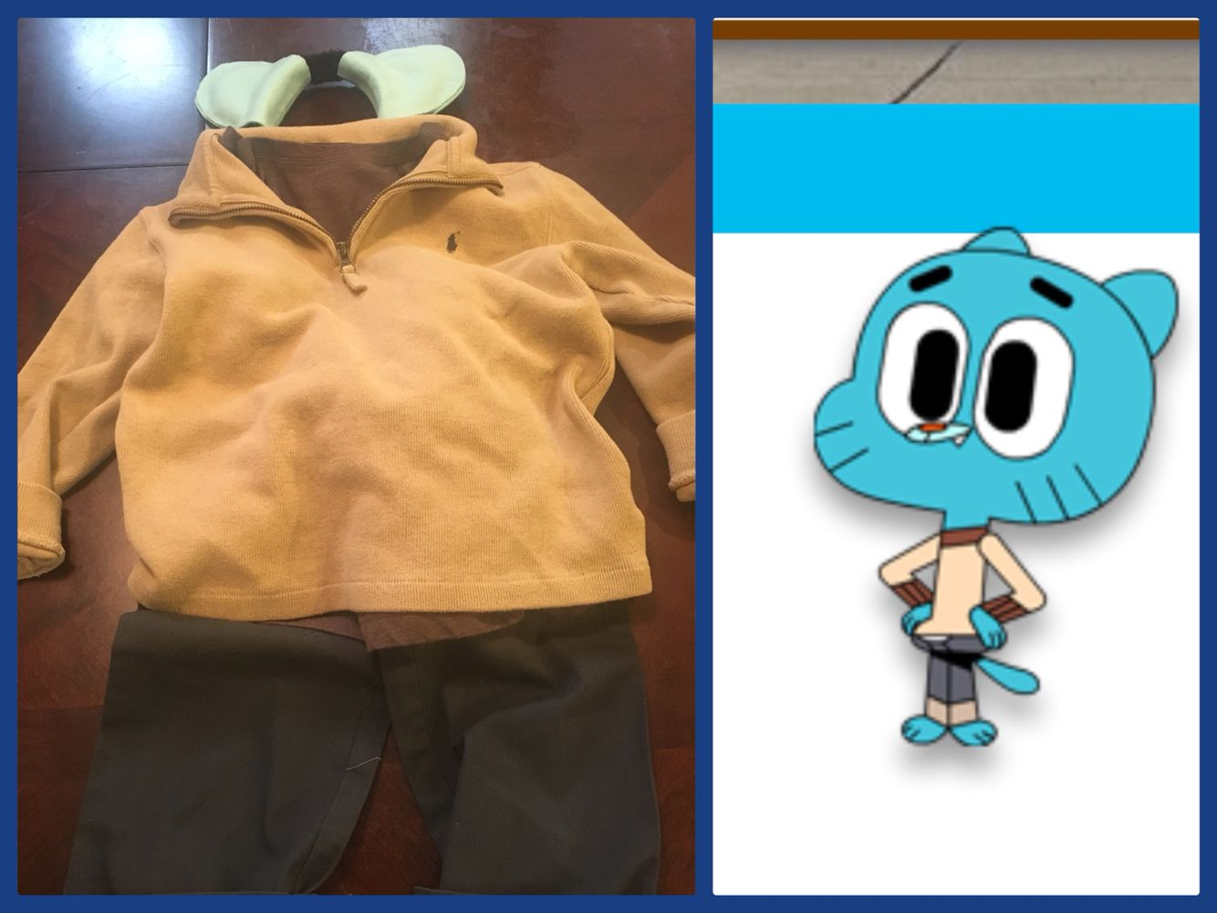 diy gumball watterson costume from the amazing world of gumballdiy gumball watterson costume from the amazing world of gumball just add some black drawn in eyebrows and you\u0027re good to go!