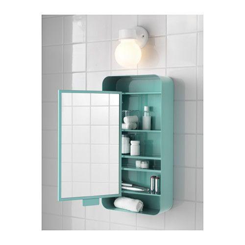 GUNNERN Spiegelschrank 1 Tür, weiß Spiegelschrank, Ikea und Türkis - badezimmer spiegelschrank günstig
