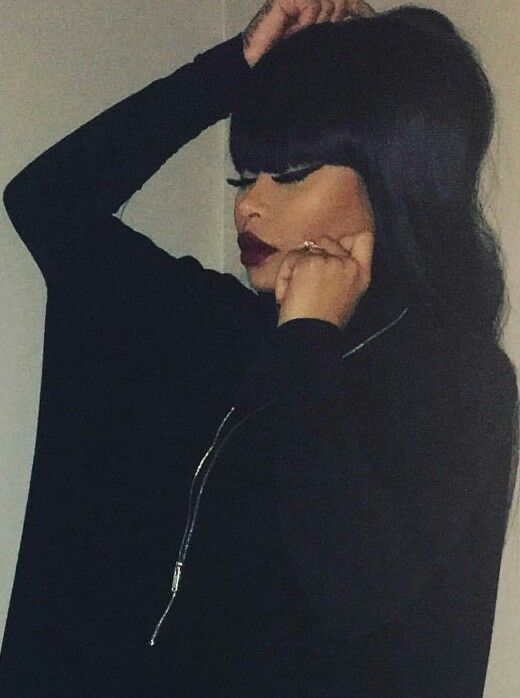 Blac Chyna all black everything black-out
