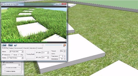 The sketchup users can apply a new scattering extension ...