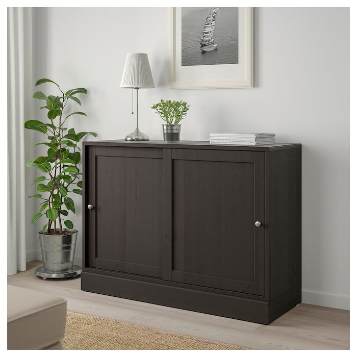 Havsta Cabinet With Base Dark Brown 47 5 8x18 1 2x35 Ikea Ikea Cabinet Movable Shelf