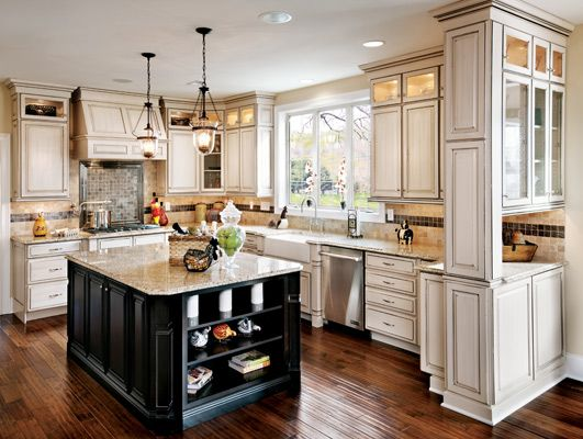 Toll Brothers Kitchen Gallery, French Country Off White Kitchen Cabinets