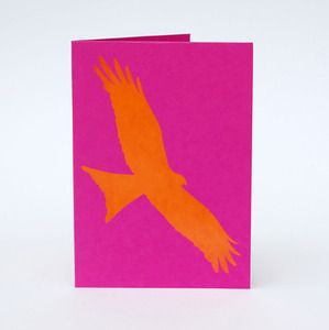 Image of Red Kite card - striking and funky