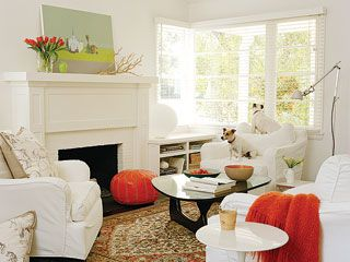 Tangerine Family Room - MyHomeIdeas.com
