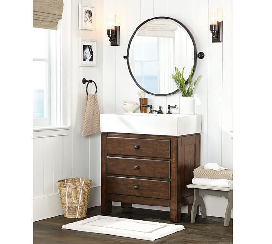 Mason Single Sink Vanity Rustic Mahogany Finish Rec