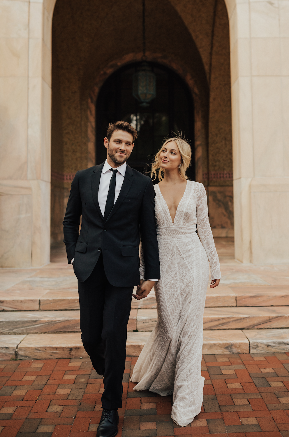 Walking into forever... featuring The Summer Gown | Photographer:  @christyljohnston Bride: @tor… | Courthouse wedding dress, Summer gowns,  Wedding dress long sleeve