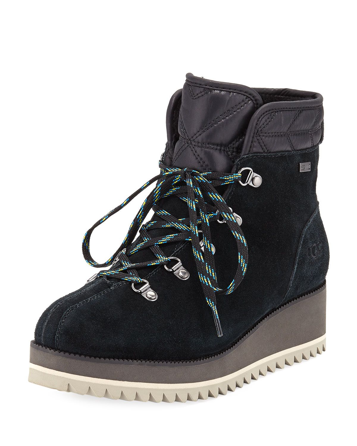 89cd3c9ee Birch Lace-Up Wedge Hiker Booties Lace Up Wedges