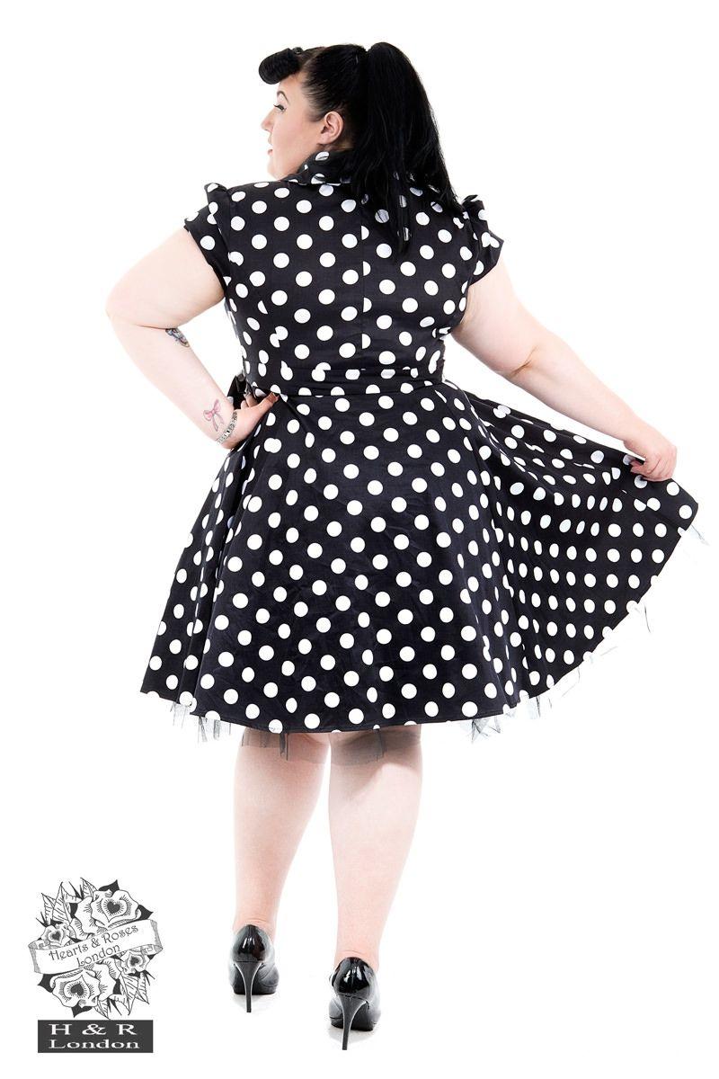 a22f5b656466 Black White Polkadot Tea dress