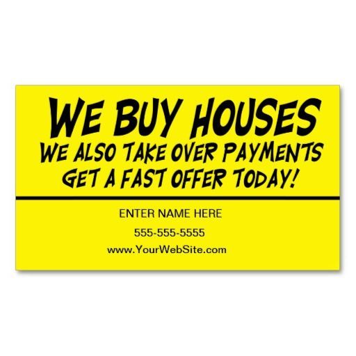 We Buy Houses Business Card We Buy Houses Home Buying Wholesale Real Estate