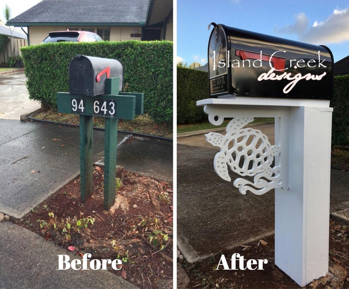Mailbox Makeover With Sea Turtle Corner Bracket By Island