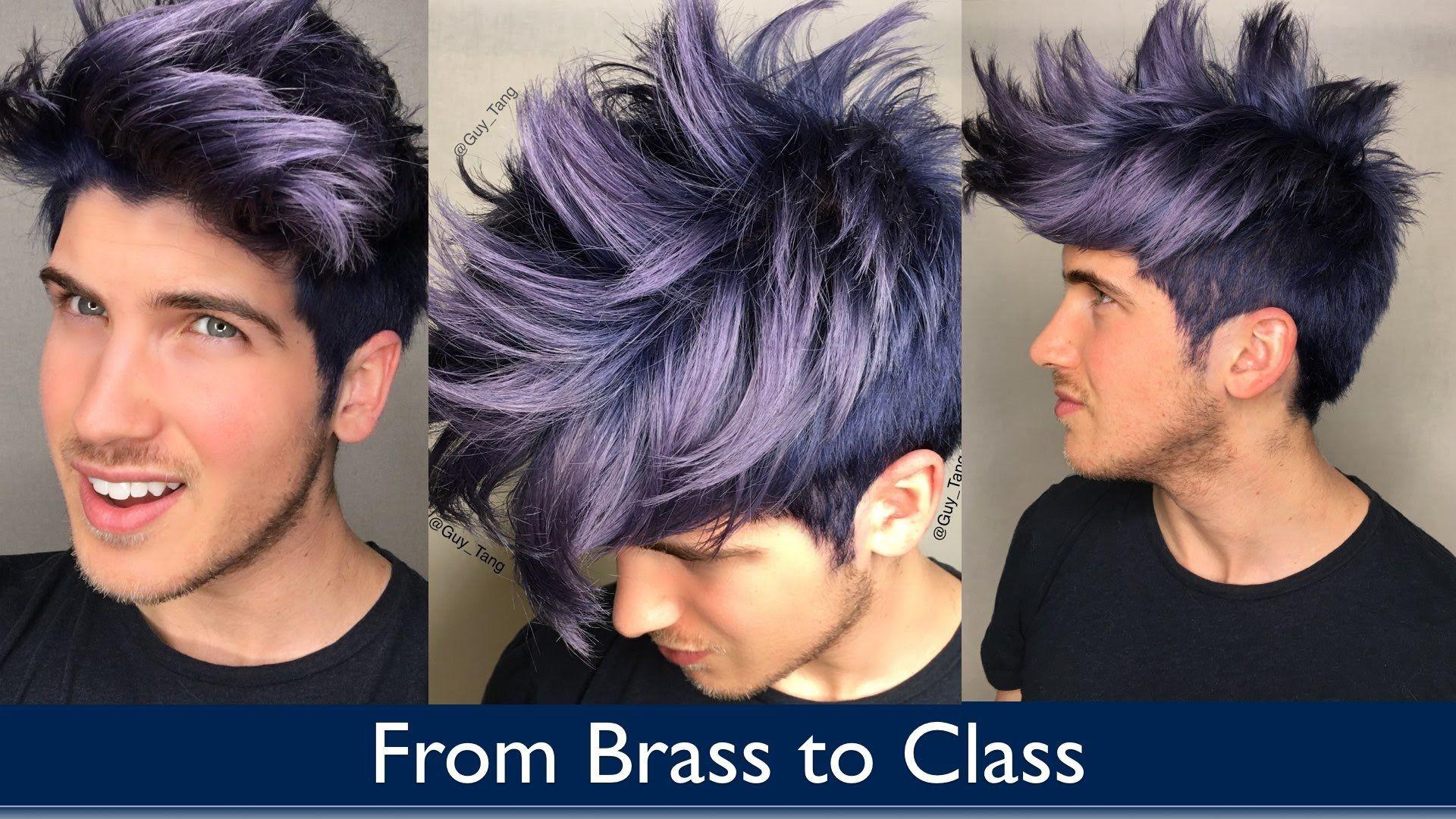 From Brass To Class Men Hair Color Silver Hair Highlights Mens Hair Colour