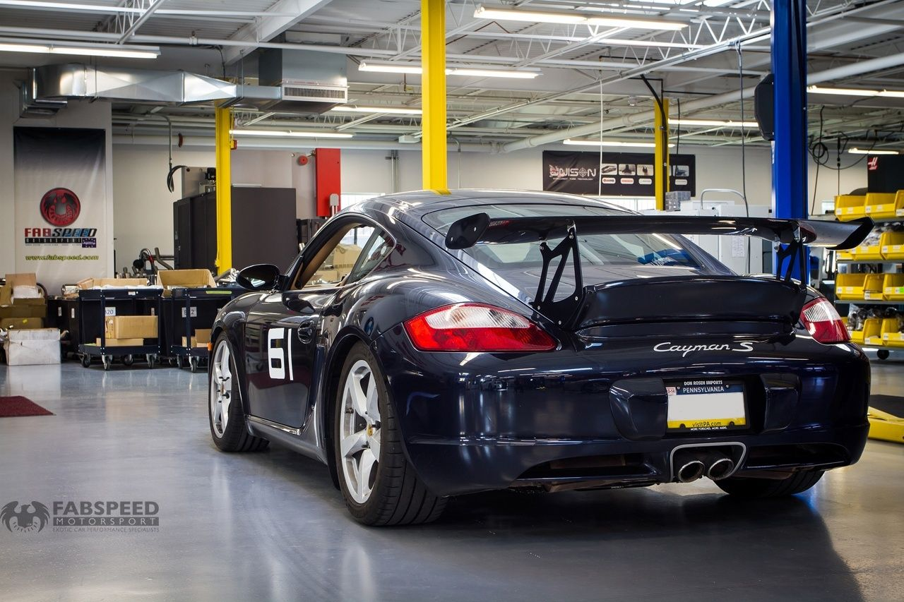 In the shop 987 cayman track car exhaust swap track