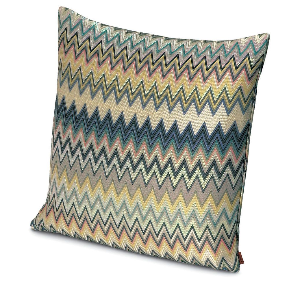masuleh pillow    cm x cm  missoni grey yellow and  - this missoni home masuleh cushion features the iconic missoni zigzag stripedesign (may vary