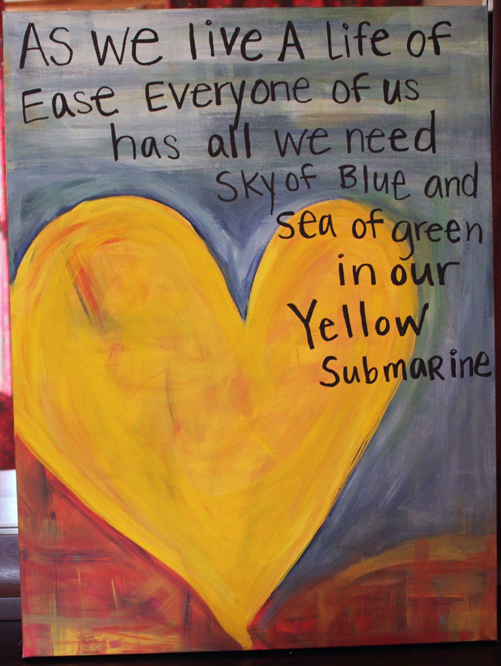 Yellow Submarine Beatles Song Lyrics Canvas | ✽º\'Decorating~Ideas\'º ...