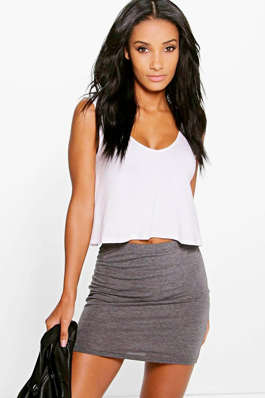 8da98a426 Basic Jersey Mini Skirt in 2019 | mini skirt# 2 | Mini skirts ...