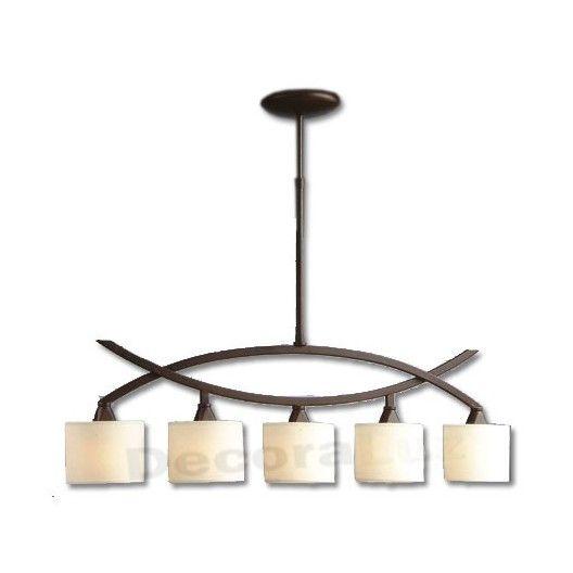 Lámpara color marrón óxido pantallas crema estilo clásico Lámparas - lamparas de techo modernas