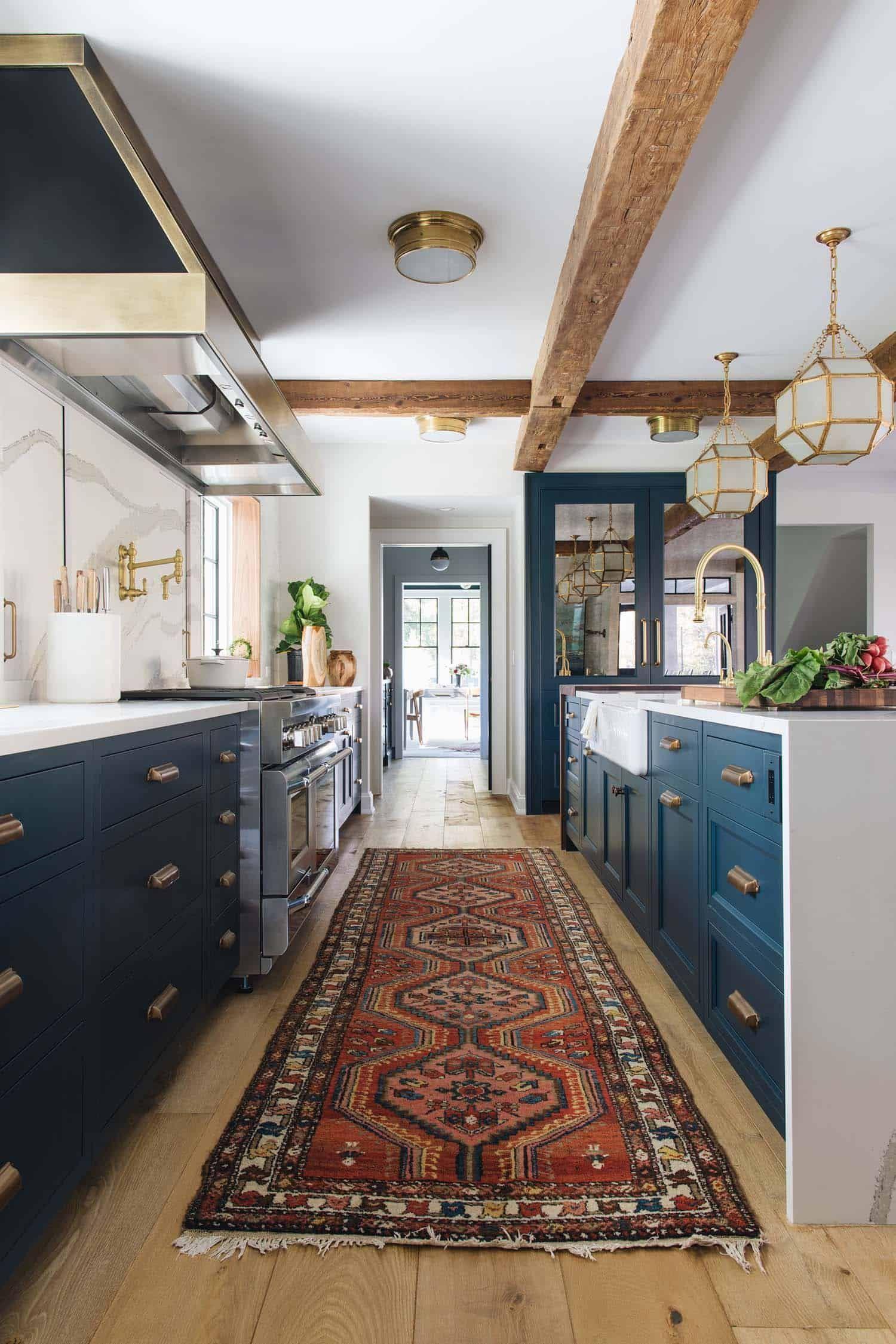 Delightful Modern Farmhouse Style Home Nestled In East Grand Rapids Kitchen Inspiration Design Home Decor Kitchen Blue Kitchen Designs