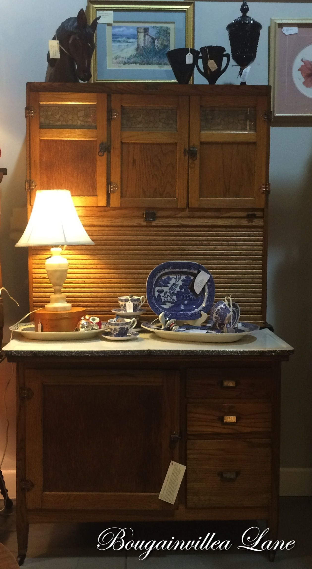 HOOSIER CABINET by McDougall, Frankfort, Indiana, Circa 1920 ...