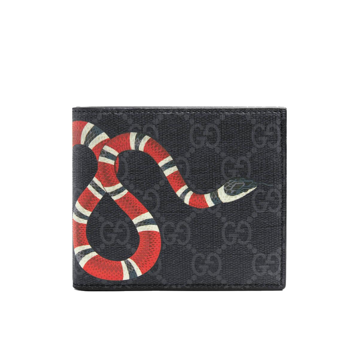 81511797f8b5 Gucci Kingsnake print GG Supreme wallet