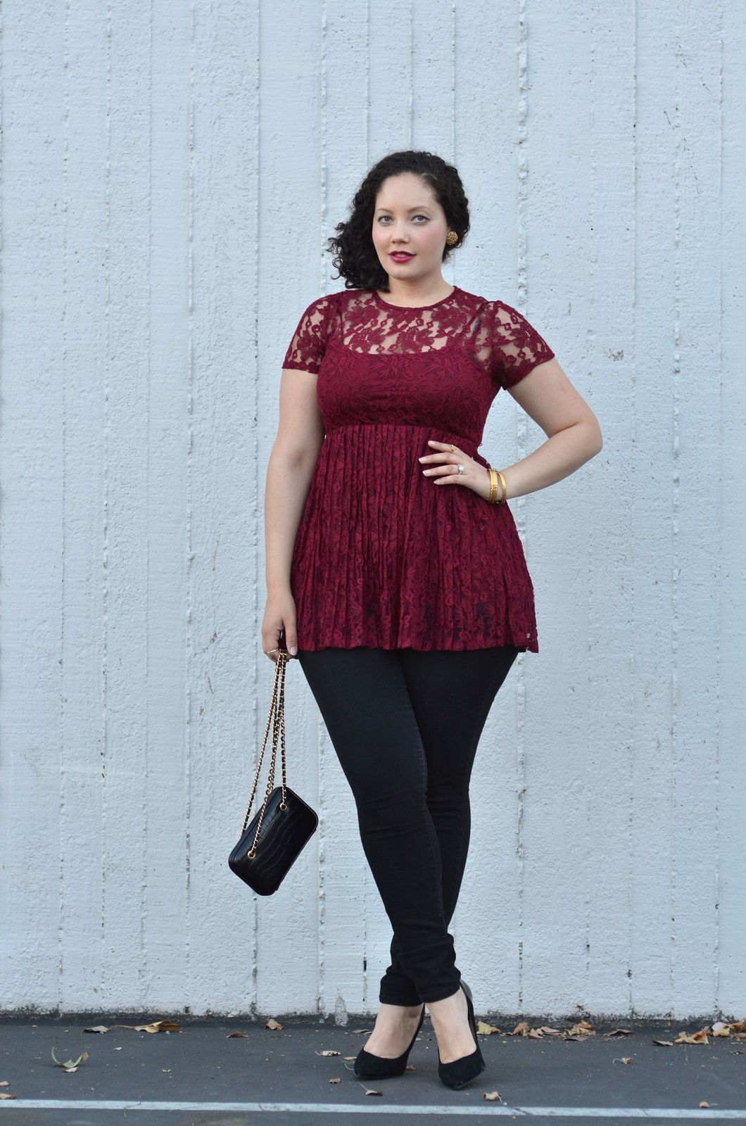 Burgundy Lace Pretty Outfits Lace Outfit Curvy Fashion
