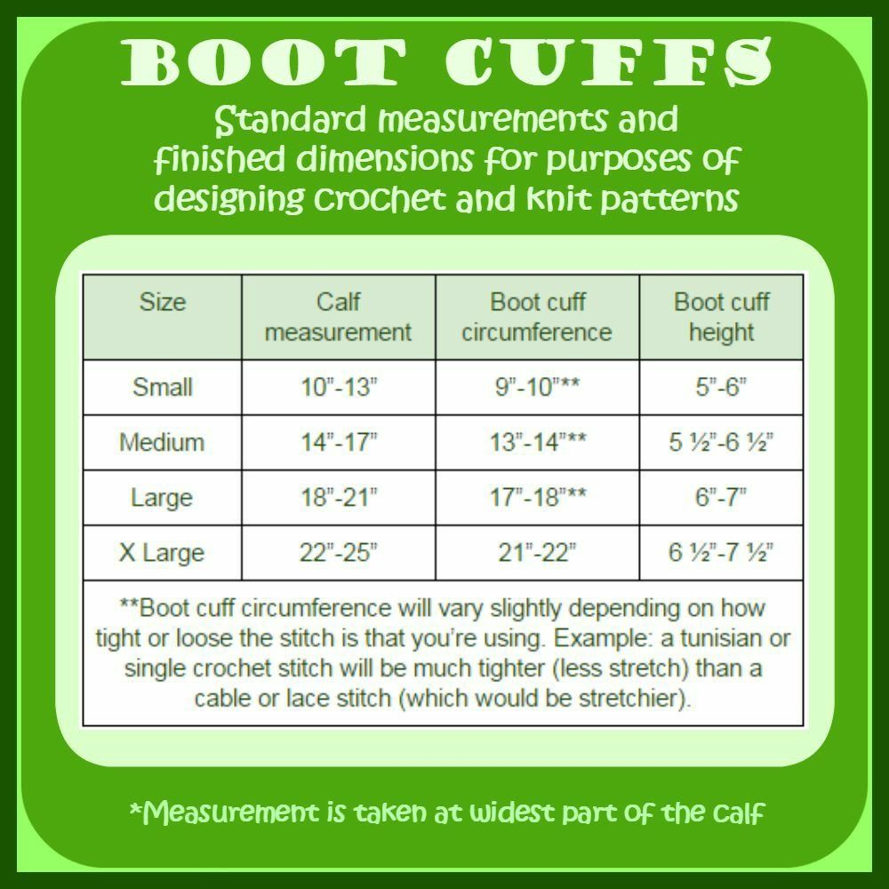 Boot cuff chart | crochet | Pinterest