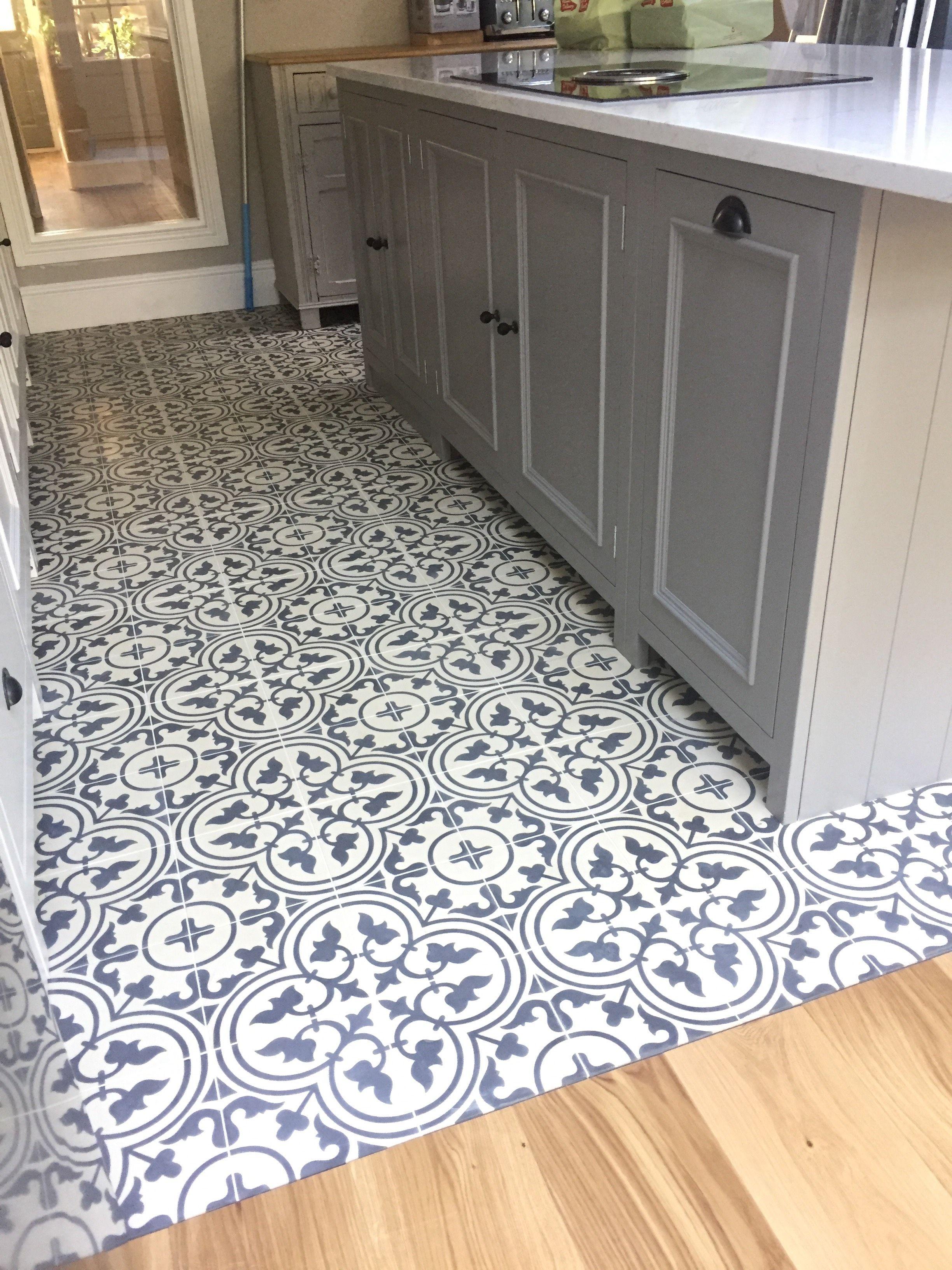 Barcelona 282 On A Kitchen Floor Very Stylish Encaustic Tiles