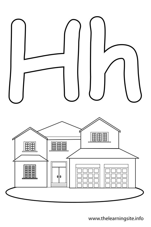 30+ H is for house coloring page info