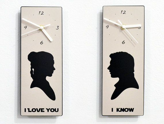 I love you I know Set of 2 Wall Clock by SolPixieDust on Etsy