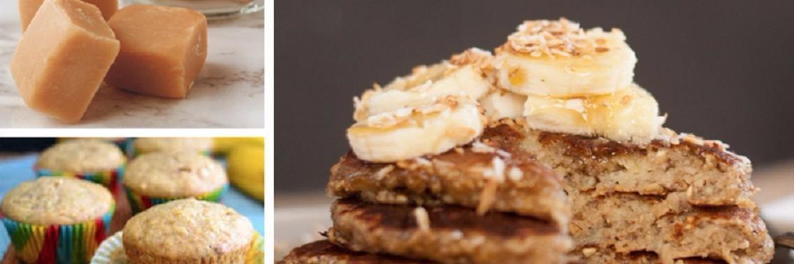 3 Gezonde Recepten Met Overrijpe Bananen Voor Gezonde Desserts Banana Oat Pancakes Banana Recipes Overripe Gluten Free Banana