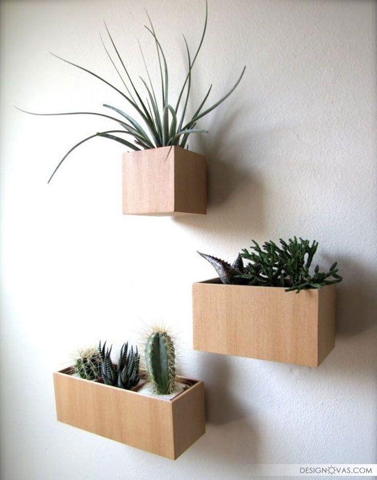 15 Modern Wall Mounted Plant Holders To Decorate Bare Walls Flowers Furniture Minimalist Plant Walls Produtos De Jardim Mobiliario De Jardim Decoracao