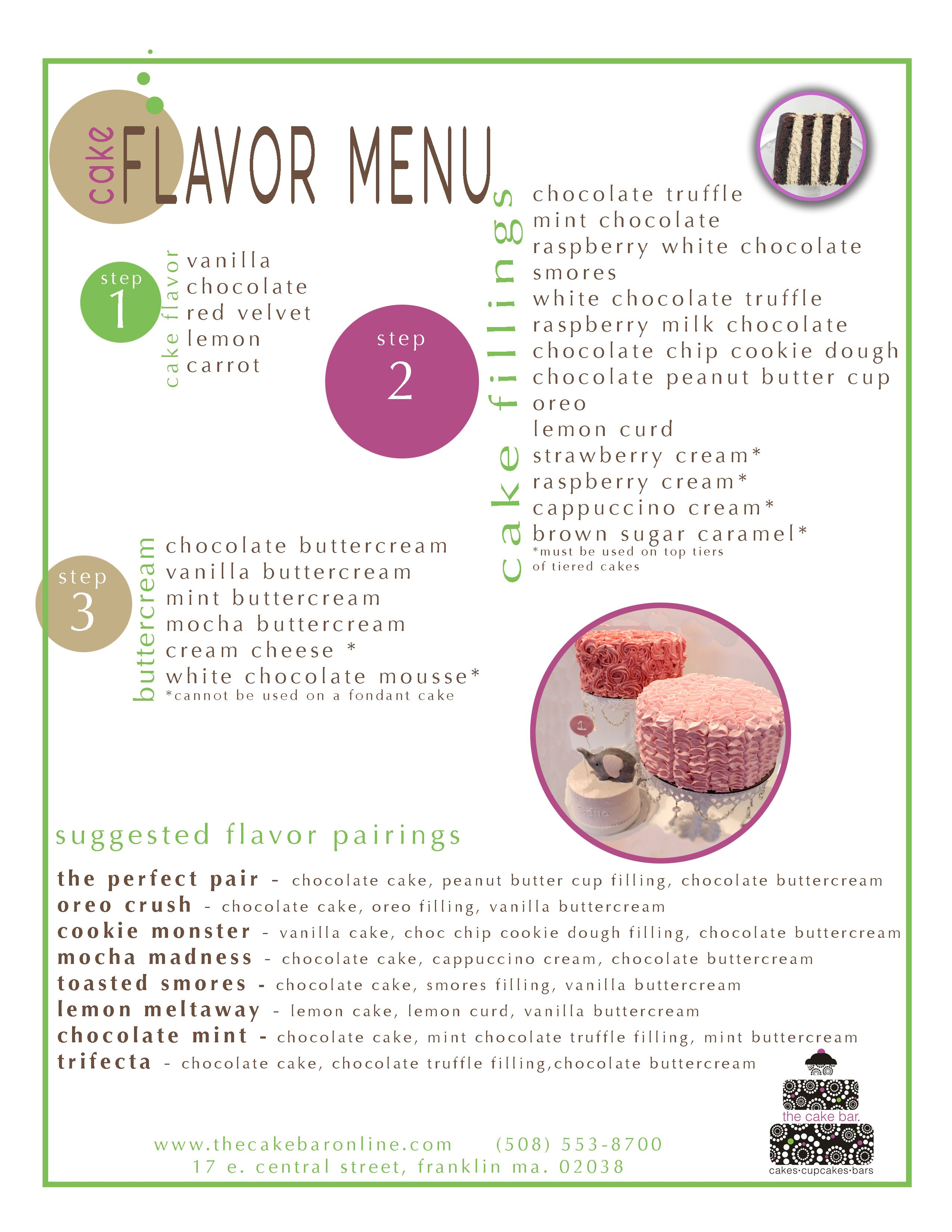 Wedding Cake Flavors And Fillings List Great