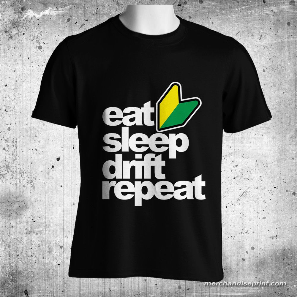 Black t shirt ebay - Jdm Eat Sleep Drift Repeat Gildan Men S Black T Shirt Size M L Xl 2xl 3xl