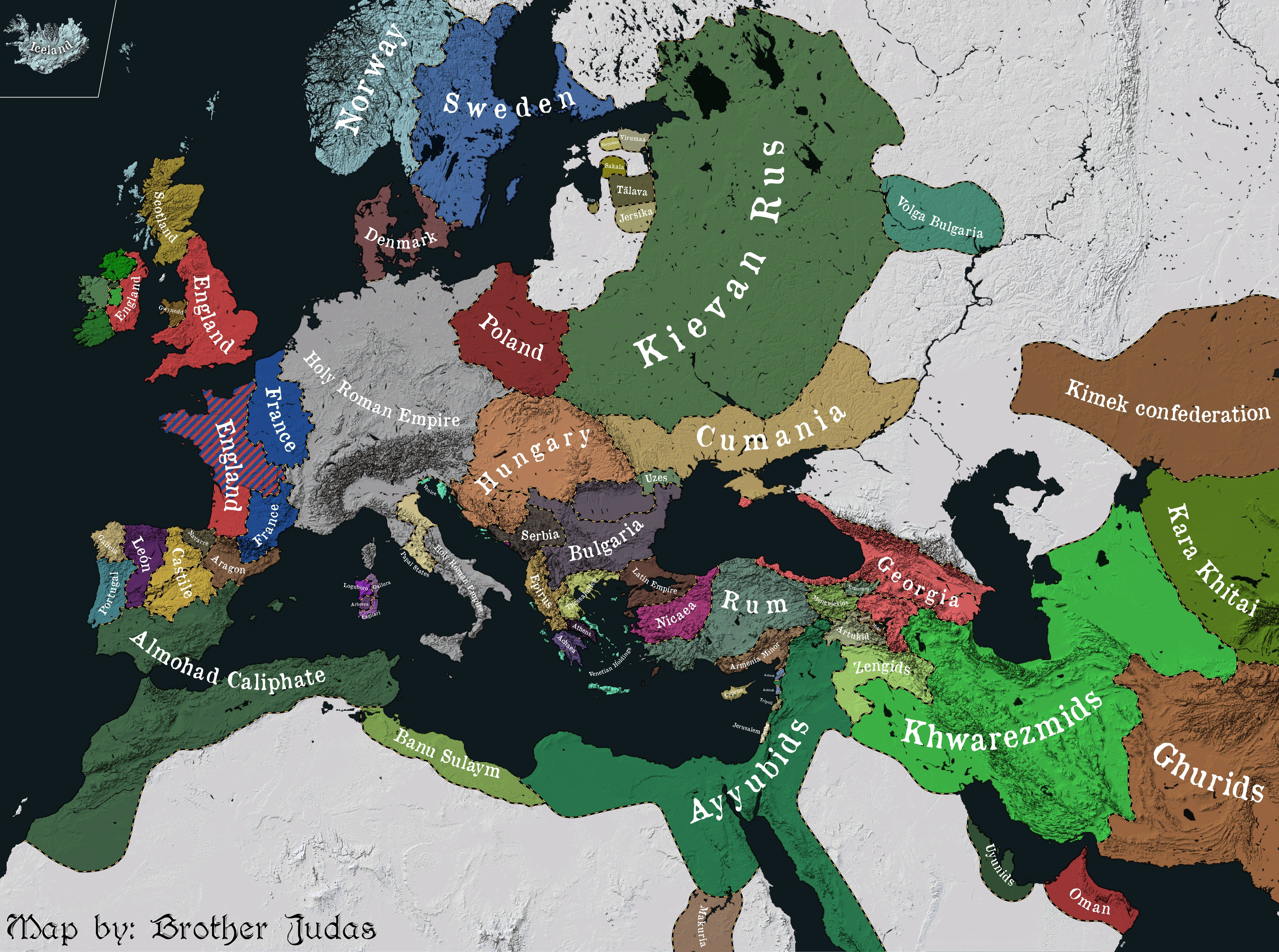 map of 13th century europe This is how Europe looked like in the 13th century   Europe map
