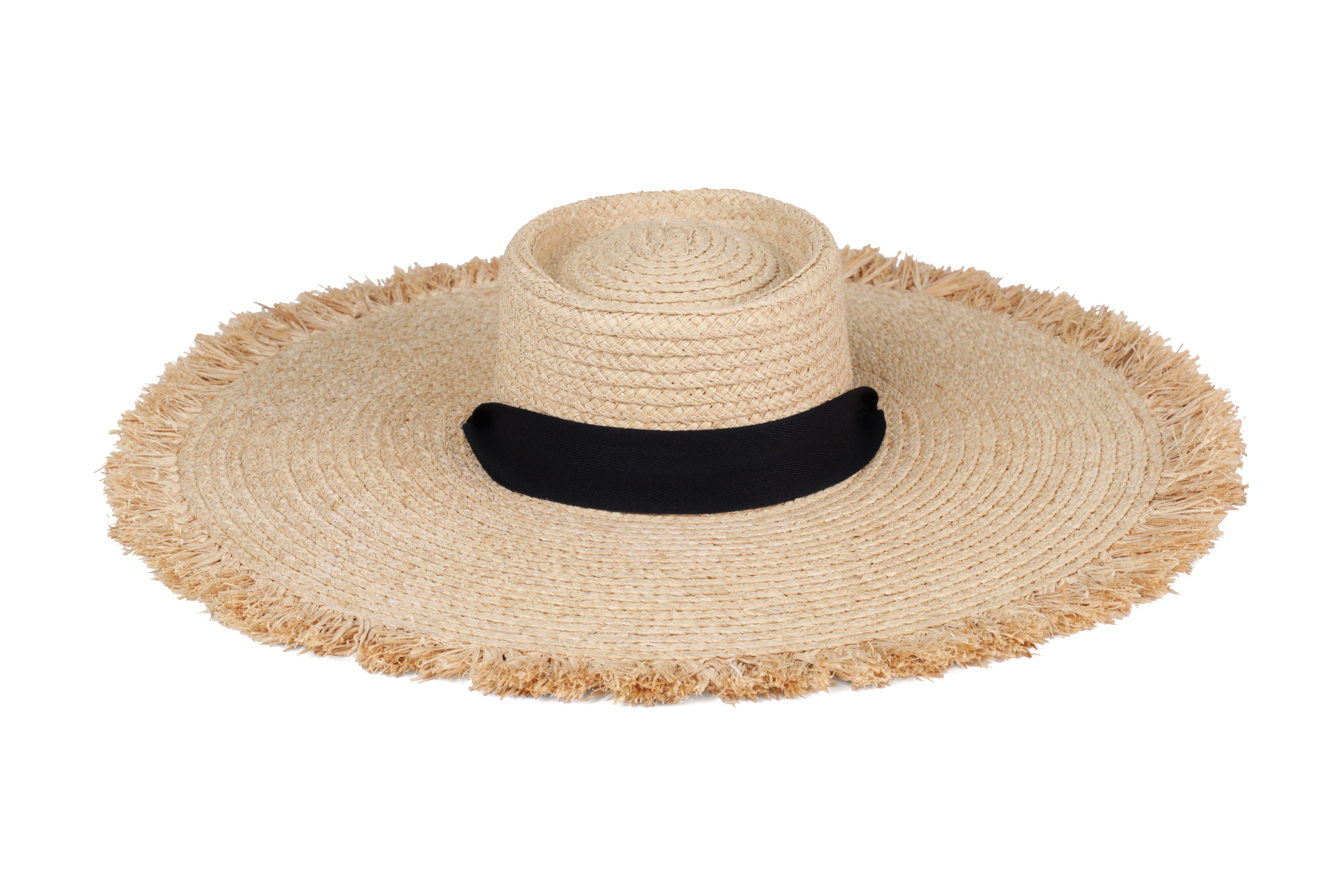 Ultra Wide Ventura Raffia Brim Hats