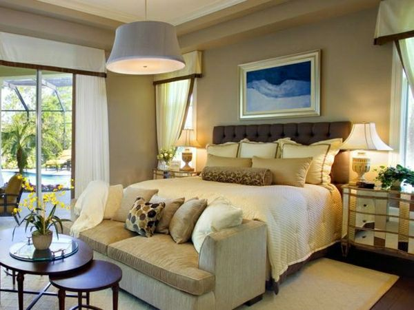 AuBergewohnlich Schlafzimmer Farbenbeige Braun Gelb Cremig Wandfarbe