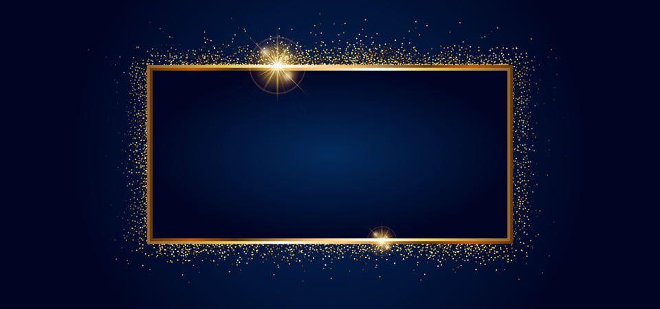 Golden Sparkling Frame With Golden Glitter Isolated On Black Background Black Background Wallpaper Golden Background Pink Background Images