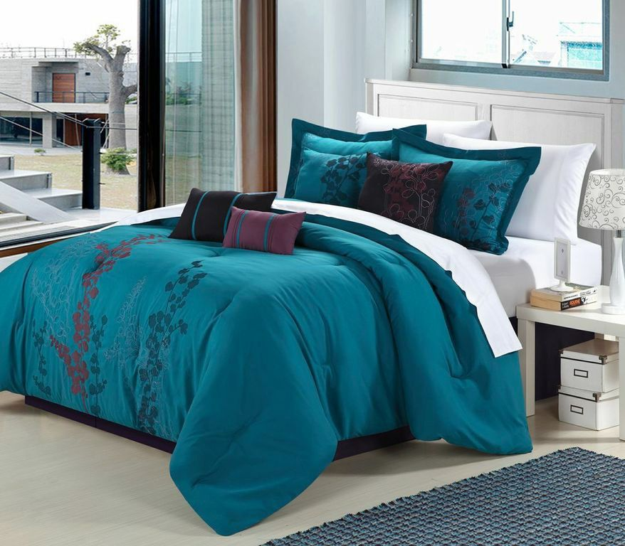 Gazebo Blue 8 Piece Comforter Bed in Bag Set #ChicHome #Contemporary
