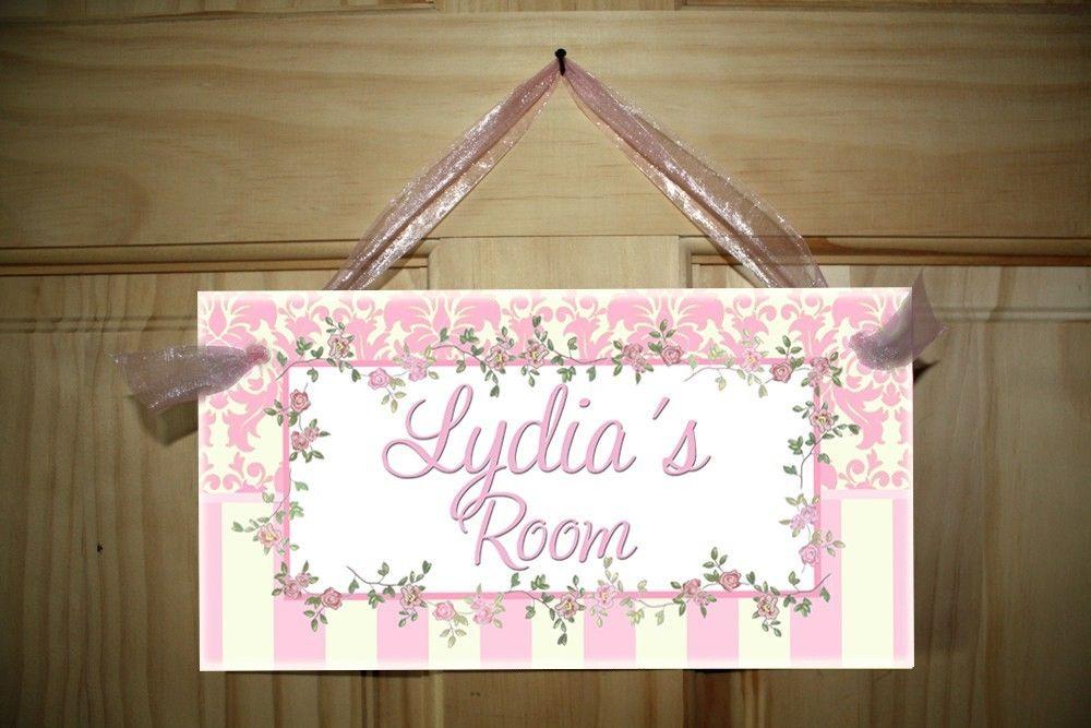 Shabby Chic Baby Girls Nursery Bedroom DOOR SIGN Wall Art DS0307