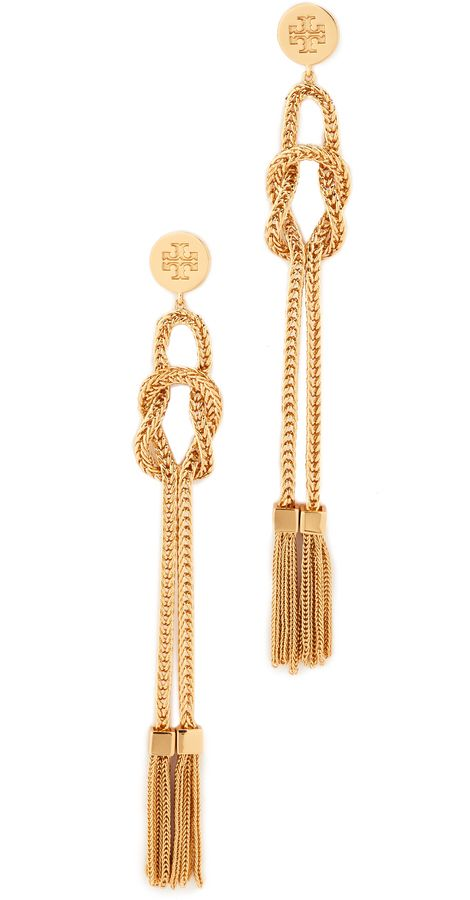 e2aa2cbf0 Tory Burch Chain Tassel Linear Earrings | Best DIY Jewelry in 2019 ...