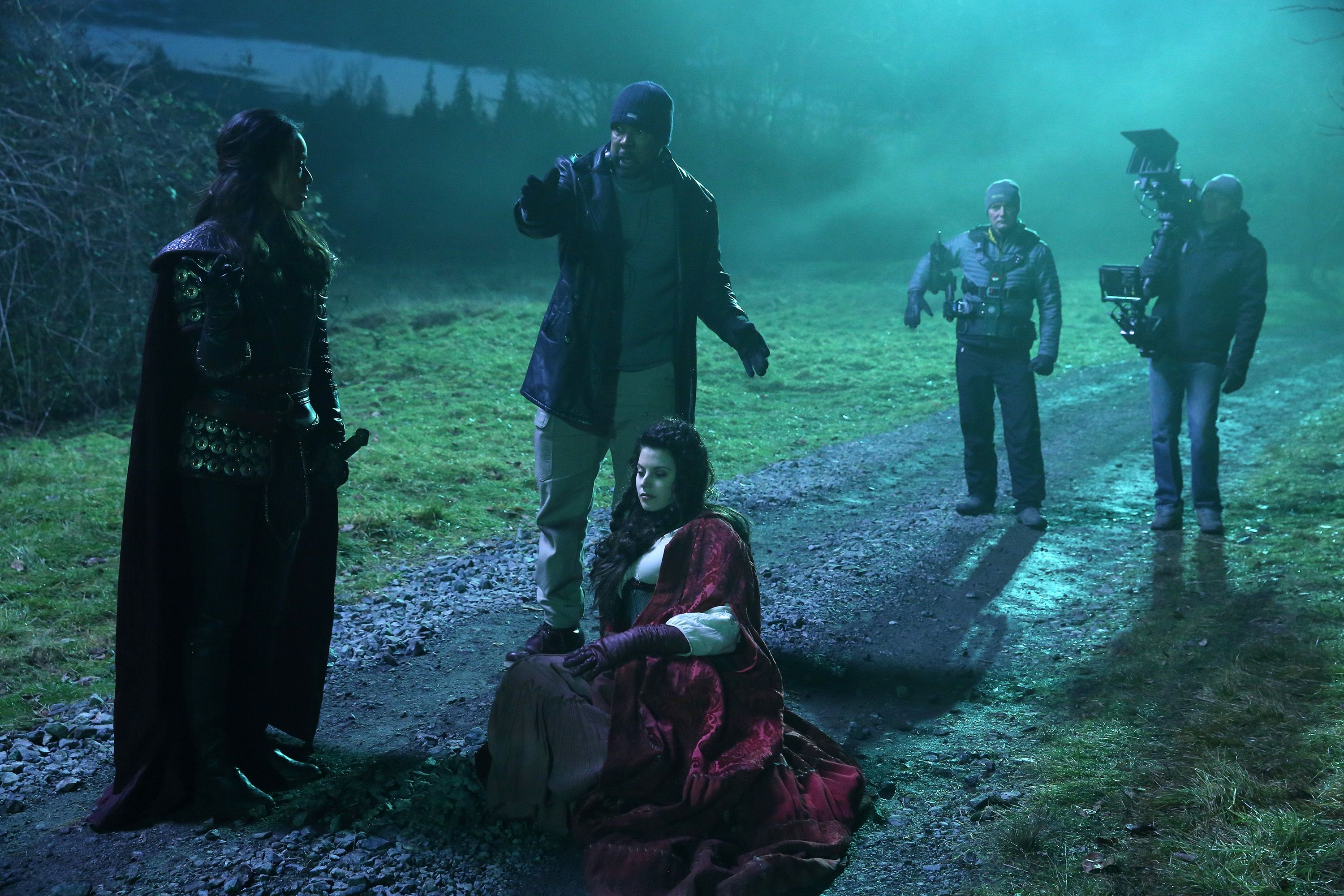 "Jamie Chung Scene jamie chung and meghan ory - behind the scenes - 5*18 ""ruby"