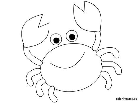Cute Crab Coloring Pages Christmas Coloring Pages Animal