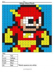mega man flash addition coloring page | coloring squared ... - Mega Man Printable Coloring Pages